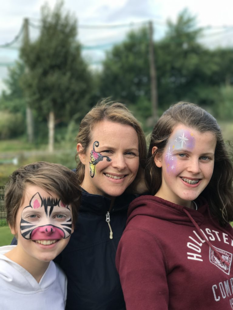 Never too old for face painting - Saucepan Kids fun at Tayto Park