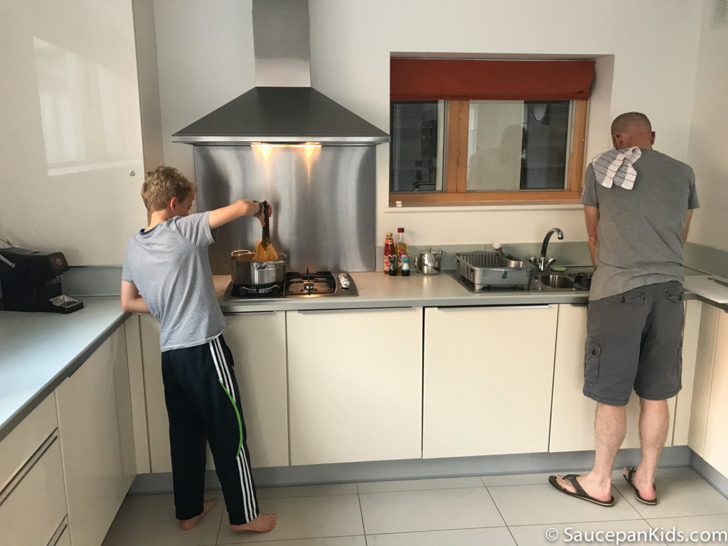 Saucepan Kids review Talbot Suites at Stonebridge in Wexford - Kitchen