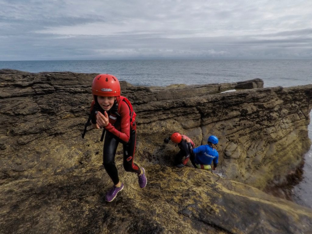Coasteering in Wexford Ireland