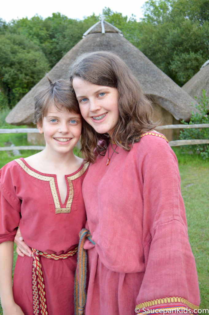 Irish National Heritage Park Ringfort Stayover review - by Saucepan Kids - The costumes