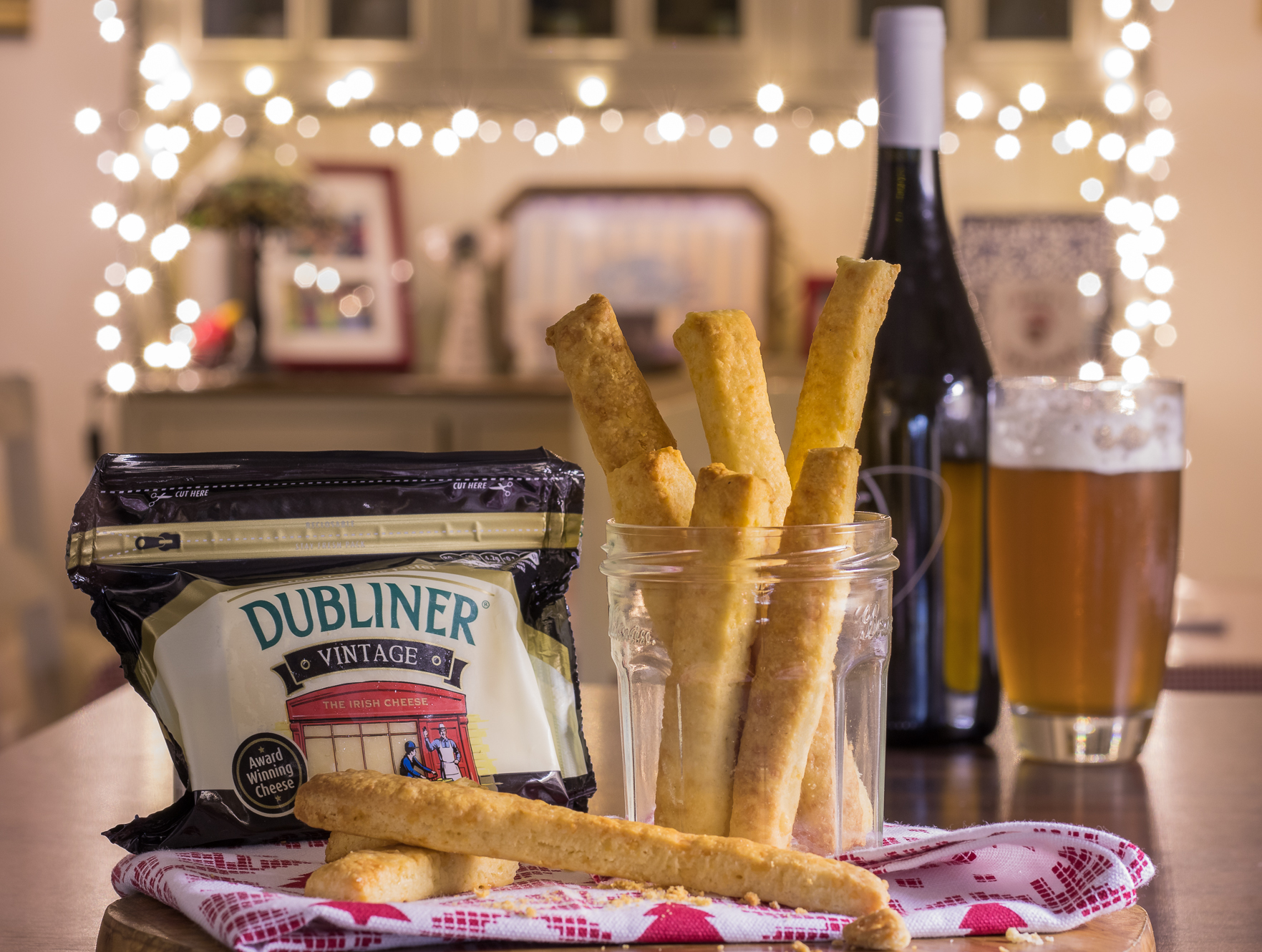 Saucepan Kids make Cheese Straws with Dubliner Vintage Cheese for the perfect festive savoury snack