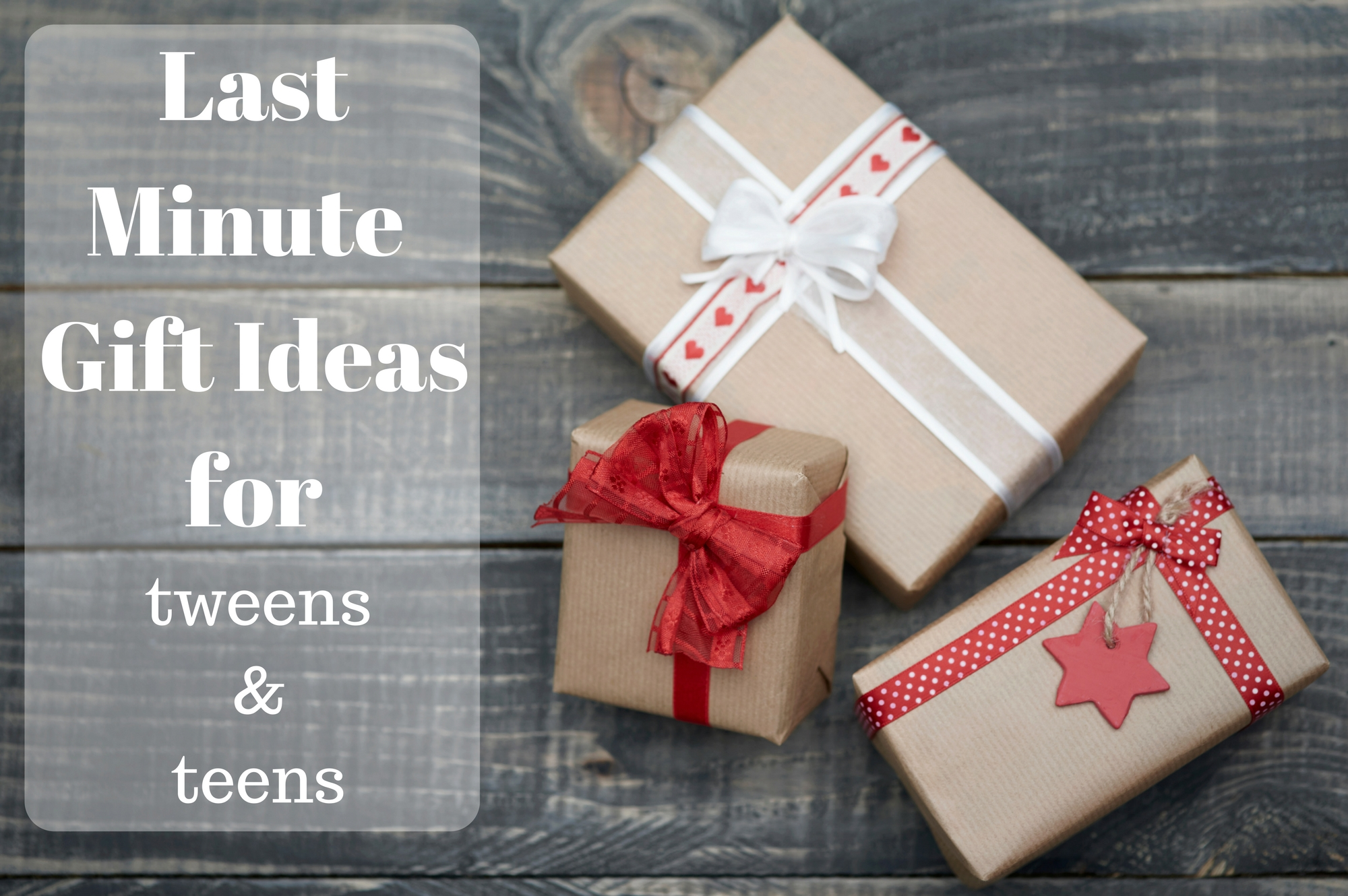 Last Minute Gift Ideas from Saucepan Kids for tweens and teens