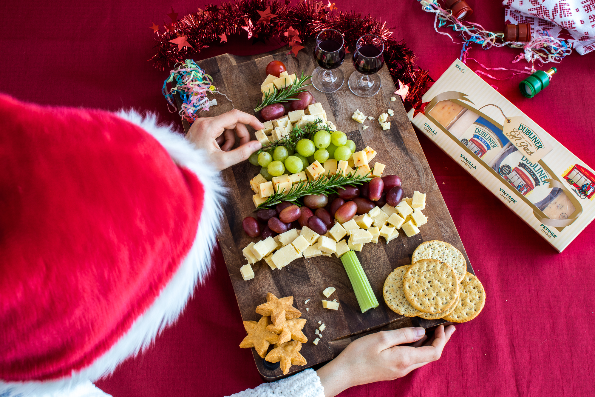 Dubliner Christmas Cheese Board - Saucepan Kids having fun with cheese this Christmas