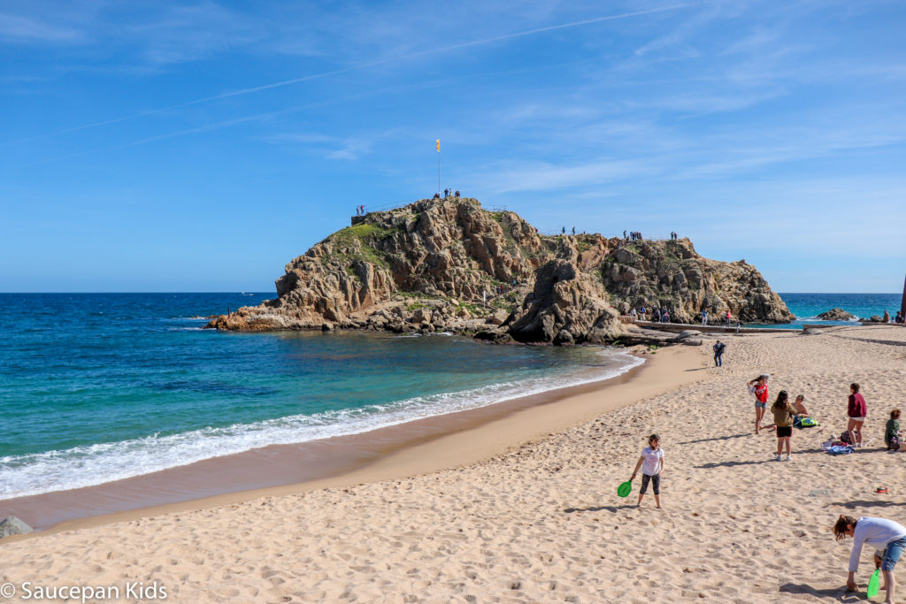 Family Friendly things to do in Costa Brava with Saucepan Kids - Catalonia - Spain - top things to do for kids in Spain - The beach in Blanes
