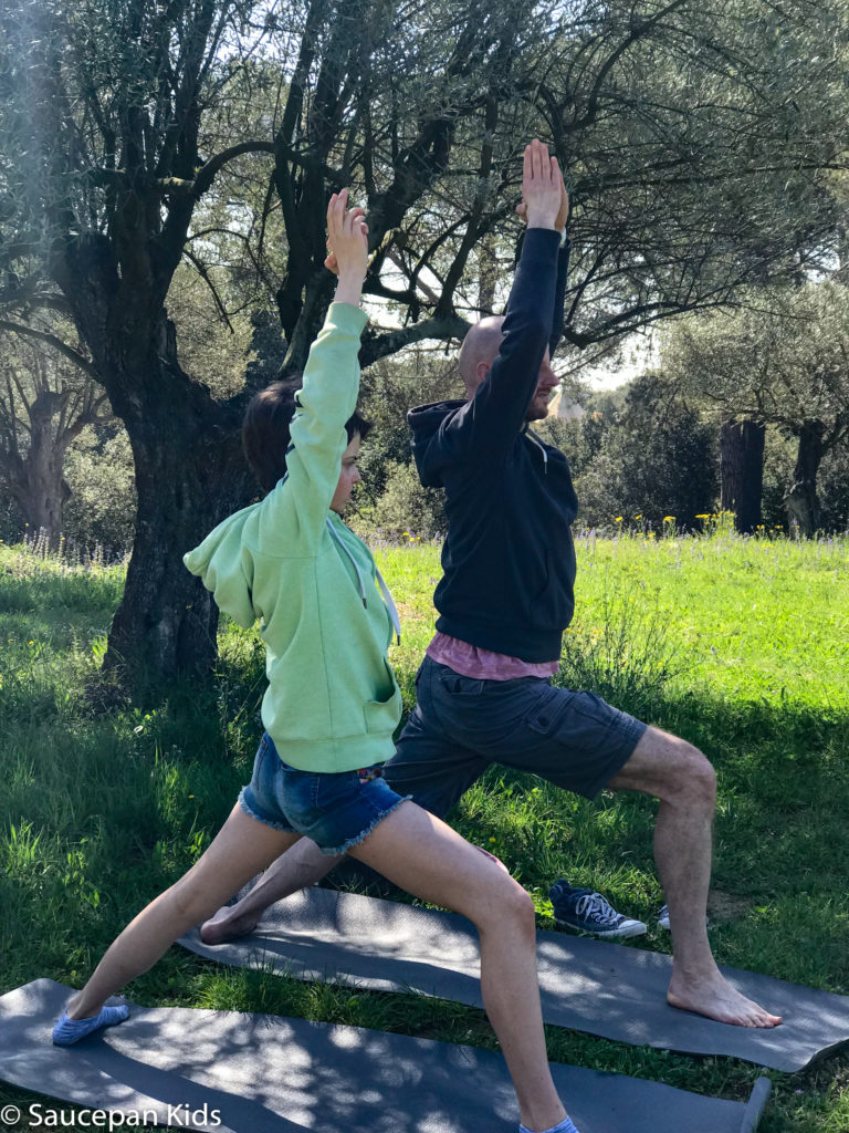 Family Friendly things to do in Costa Brava with Saucepan Kids - Catalonia - Spain - A family yoga class