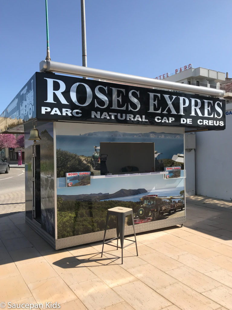 Family Friendly things to do in Costa Brava with Saucepan Kids - Catalonia - Spain - A family trip on the Roses Express to see the Cap de Creus nature park - ticket office