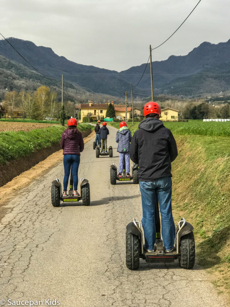 thing-to-Family Friendly things to do in Costa Brava with Saucepan Kids - Catalonia - Spain - Segways family tour in Vall d'en Bas - unique way to explore the countryside