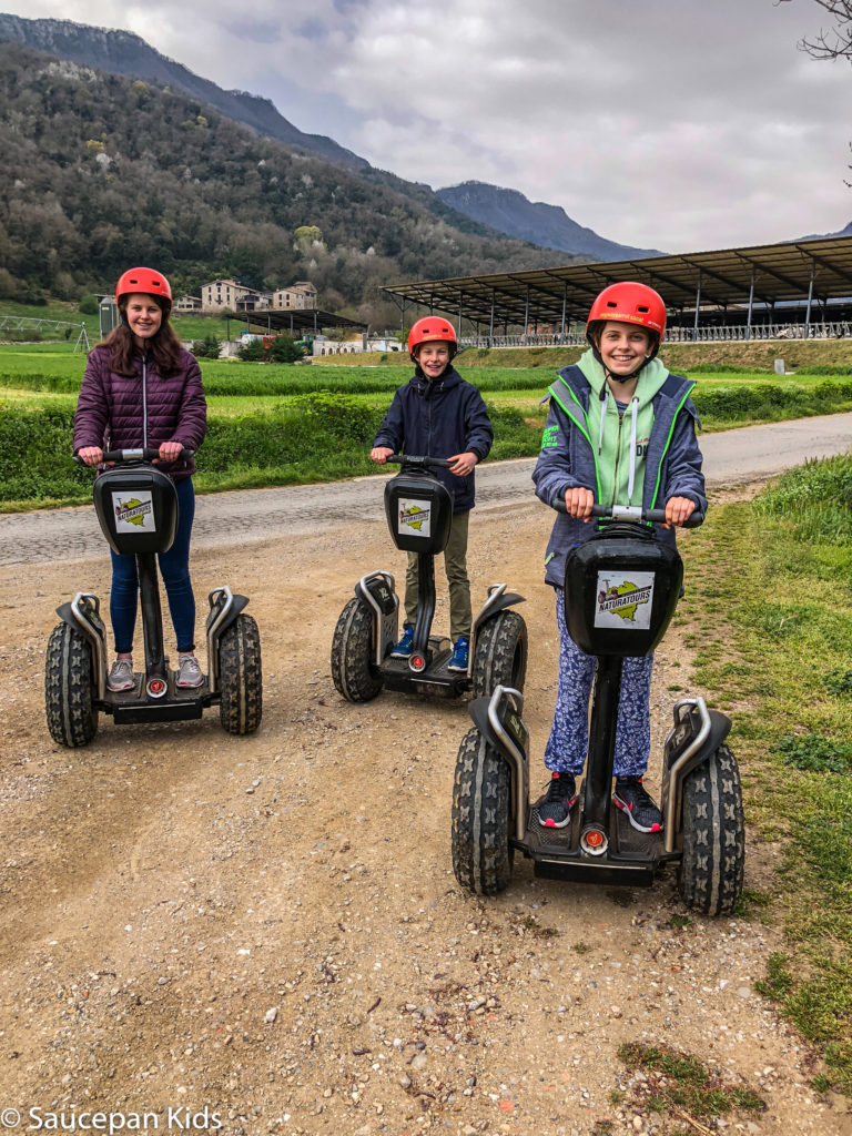thing-to-Family Friendly things to do in Costa Brava with Saucepan Kids - Catalonia - Spain - Segways family tour in Vall d'en Bas - great way to sighysee