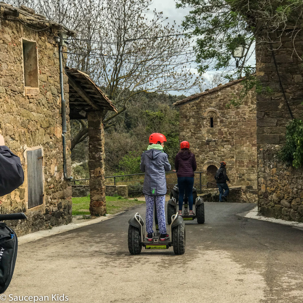 thing-to-Family Friendly things to do in Costa Brava with Saucepan Kids - Catalonia - Spain - Segways family tour in Vall d'en Bas - unique way to explore the villages
