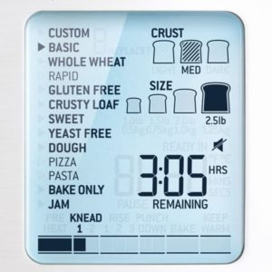 Custom Loaf bread maker by Sage Appliances - review by Saucepan Kids - smart LCD display