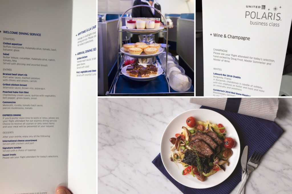 saucepan Kids review United Business Polaris - what to expect on a united polaris flight - the food