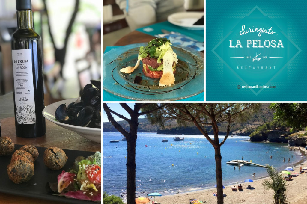 Chiringuito La Pelosa restaurant in Costa Brava - Saucepan Kids enjoy fresh fish by the beach
