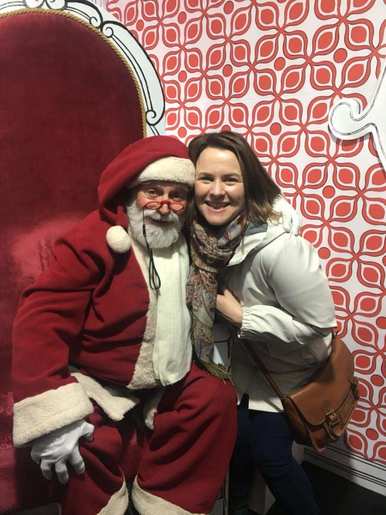 Debbie Woodward from Saucepan Kids visit Vila Natal in Obidos in Central Portugal - Top Christmas Markets in Portugal - Visiting Father Christmas