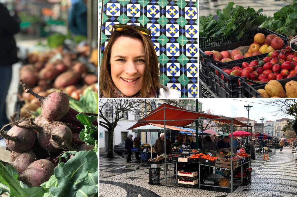 Debbie Woodward from Saucepan Kids visit Christmas villages and Christmas markets in Portugal - Visiting caldas da rainha market