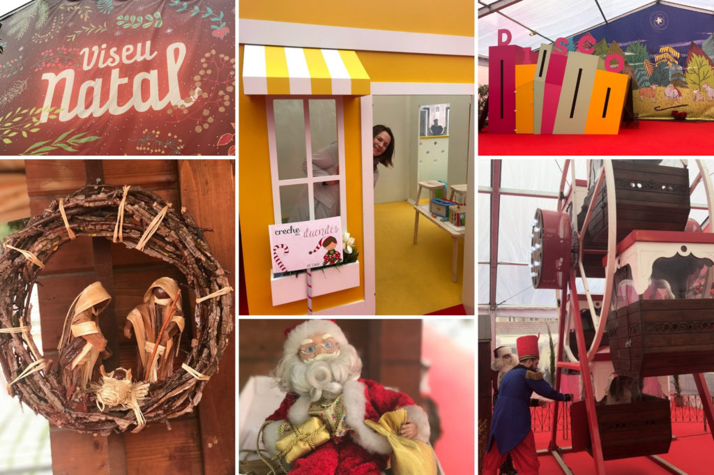 Debbie Woodward from Saucepan Kids visit Vila Natal in Obidos in Central Portugal - Top Christmas Markets in Portugal - Visiting Viseu Christmas Market by day