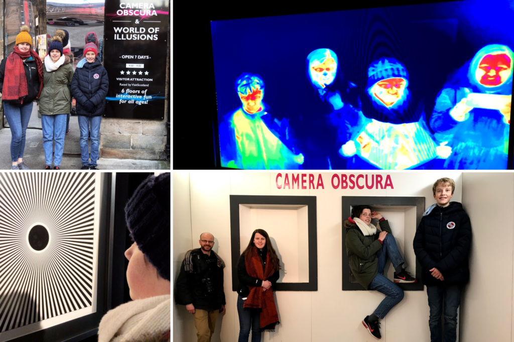 Saucepan Kids visit Edinburgh - 48 hours in Edinburgh with the kids - Top family friendly things to do in Edinburgh - Camera Obscura