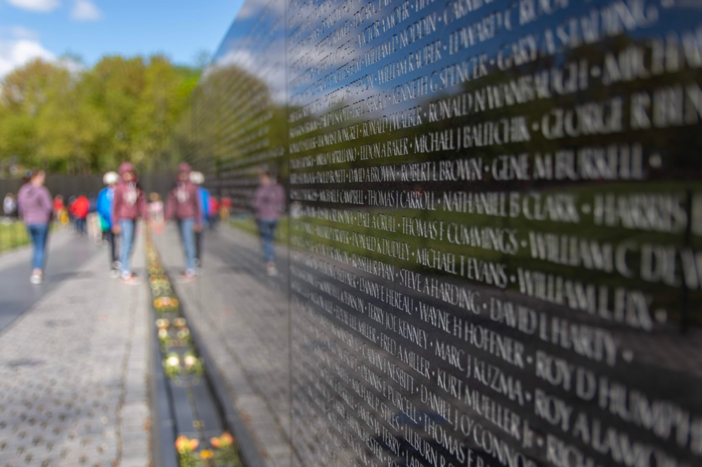 The entire mall is pretty spectacular. There are plenty of food vendors and restrooms plus open grass areas for the kids making it an excellent and easy choice for families - Vietnam Memorial