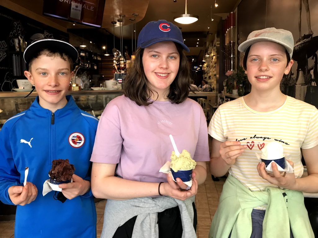Top family friendly things to do in Philadelphia - Top things to do with kids in Philadelphia - The best Gelato in Philly - happy kids