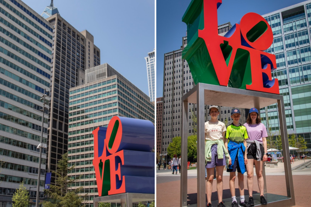 Top family friendly things to do in Philadelphia - Top things to do with kids in Philadelphia - Love Statue in Love Park