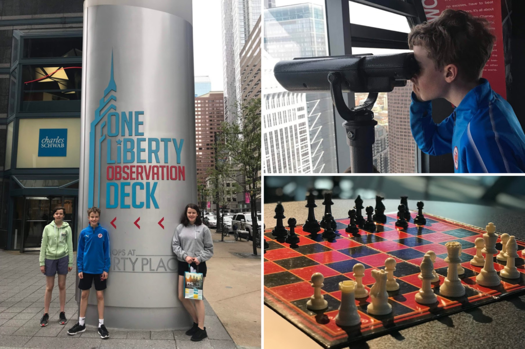 Top family friendly things to do in Philadelphia - Top things to do with kids in Philadelphia - One Liberty Observation Deck the interior