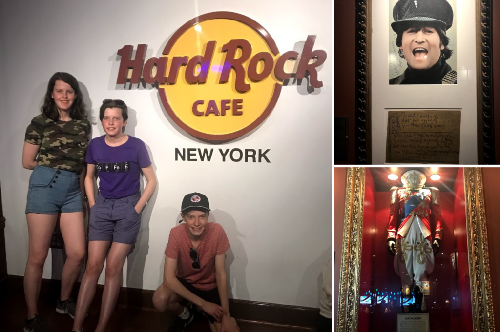 Top family friendly things to do in New York - Top things to do with kids in New York - Hard Rock Cafe