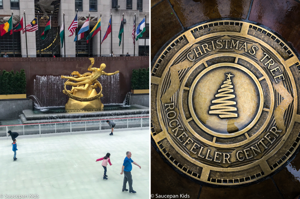 Saucepan Kids do the TV & Manhattan Movie Locations Tour with NBC Studio Tour with Take Walks NYC - Top things to do with kids in New York - Family friendly things to do in New York - Ice Rink
