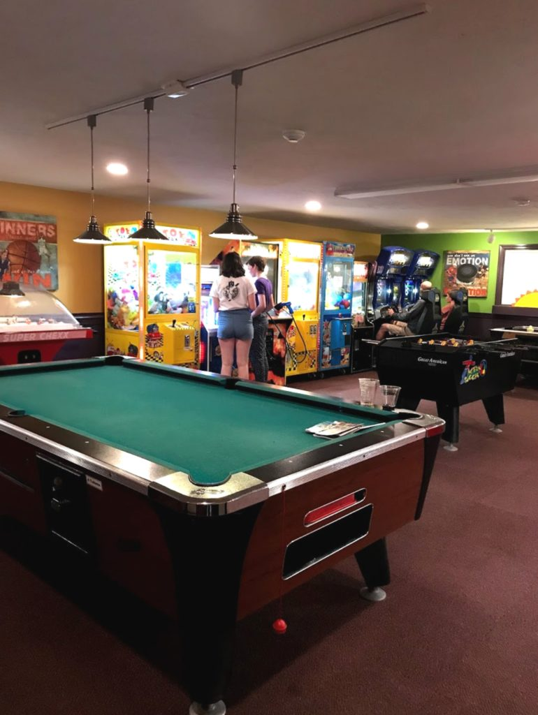 Top family friendly things to do in Cape Cod - Top things to do with kids in Cape Cod - Bayside resort hotel games room