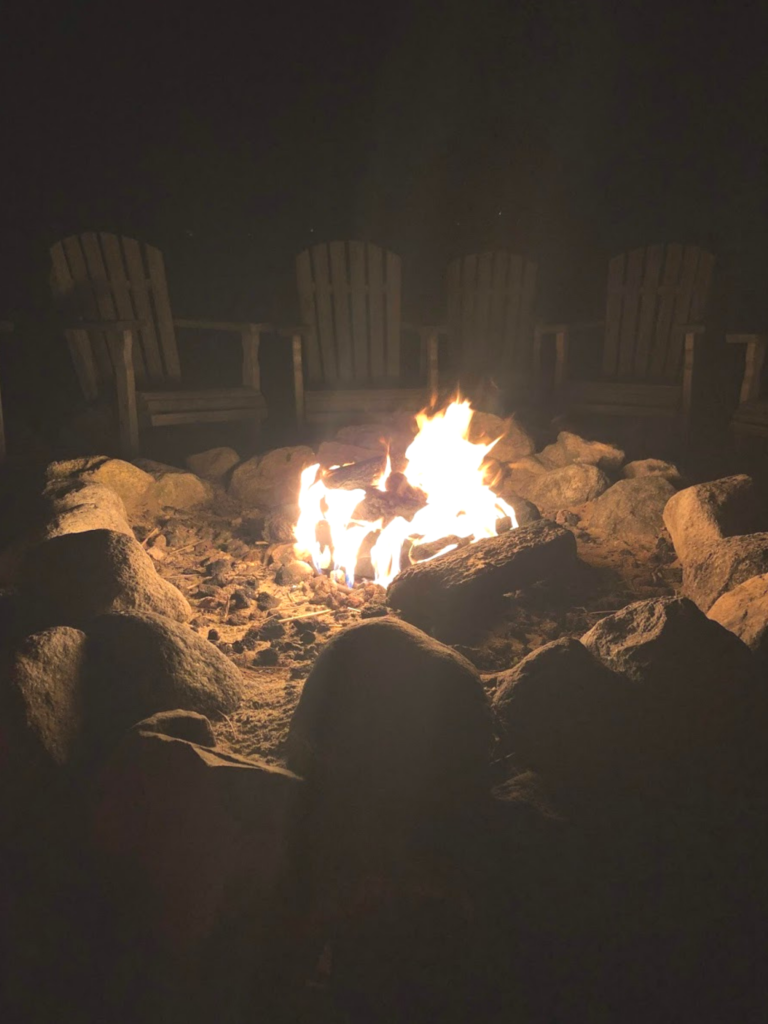 Top family friendly things to do in Cape Cod - Top things to do with kids in Cape Cod - Bayside resort hotel fire pit