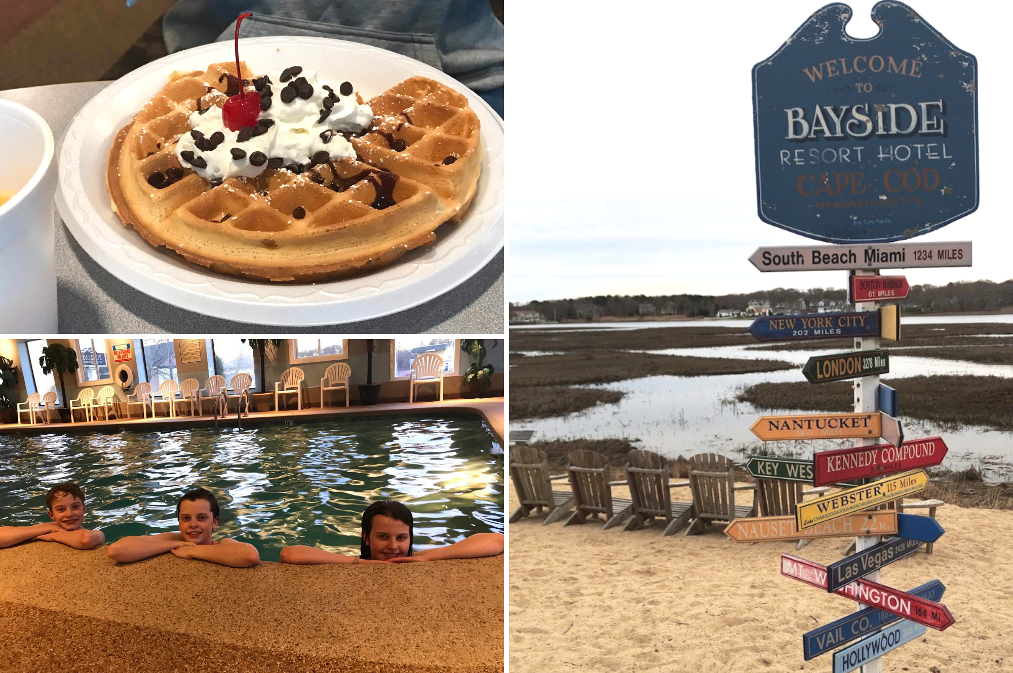 Top family friendly things to do in Cape Cod - Top things to do with kids in Cape Cod - Bayside resort hotel outside