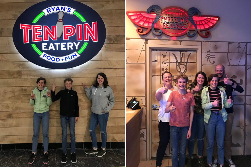Top family friendly things to do in Cape Cod - Top things to do with kids in Cape Cod - Ten Pin Eatery Escape Rooms