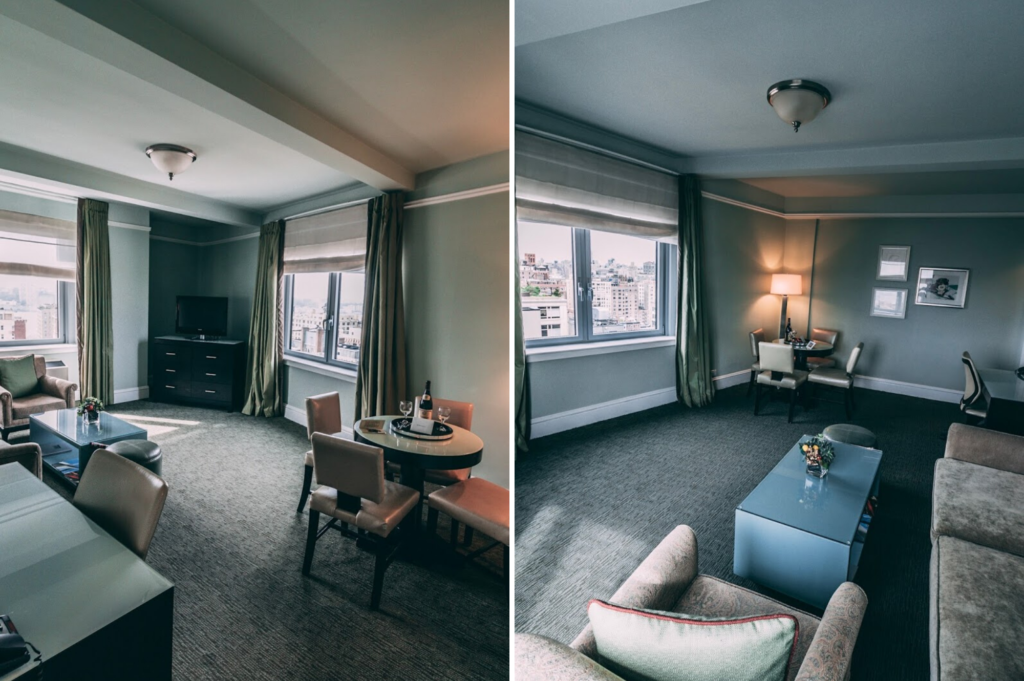 Saucepan Kids review Hotel Beacon New York - Family-friendly hotel accommodation in New York NYC - The lounge area in the hotel suite