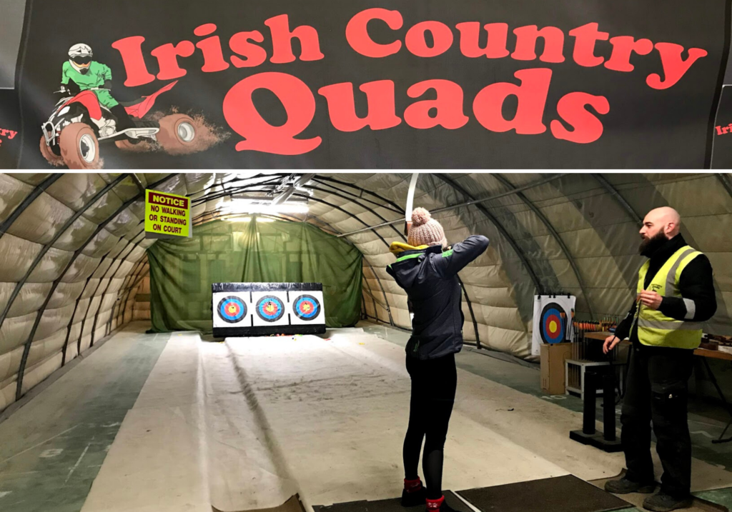 saucepan Kids visit Co. Monaghan to try and review family-friendly things to do in Monaghan - Things for teenagers to do in Monaghan - Irish Country Quads - Archery family fun