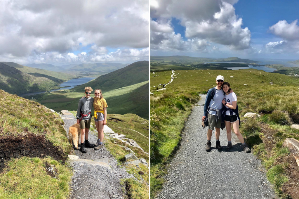 Saucepan Kids travel to Galway and climb Diamond Hill in Connemara National Park - Top things to do with kids in Connemara - The red route on Diamond Hill