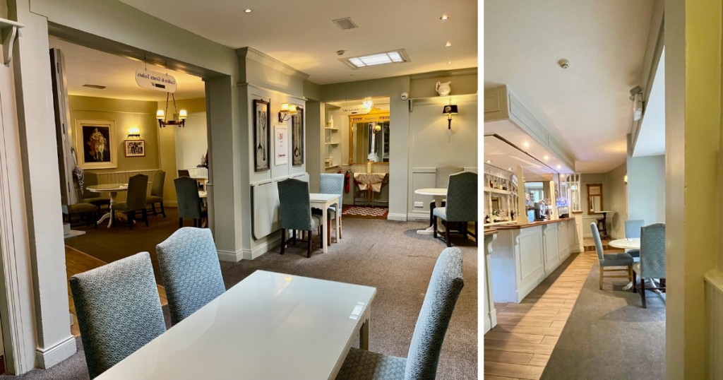 Saucepan Kids visit Boyne Valley - Top things to do with teenagers in the Boyne Valley - Conyngham Arms Hotel Slane review - the dining room