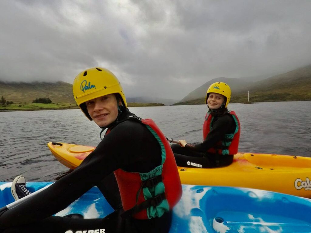 Saucepan Kids review Delphi Adventure Resort Galway - Things to do in Mayo Galway Ireland with teenagers - paddling fun