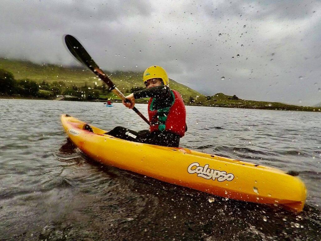 Saucepan Kids review Delphi Adventure Resort Galway - Things to do in Mayo Galway Ireland with teenagers - fun kayaking