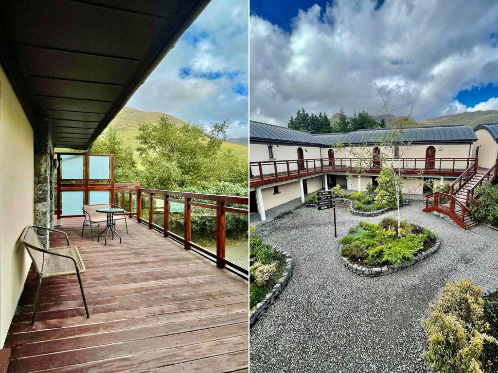 Saucepan Kids review Delphi Adventure Resort Galway - Things to do in Mayo Galway Ireland with teenagers - Courtyard