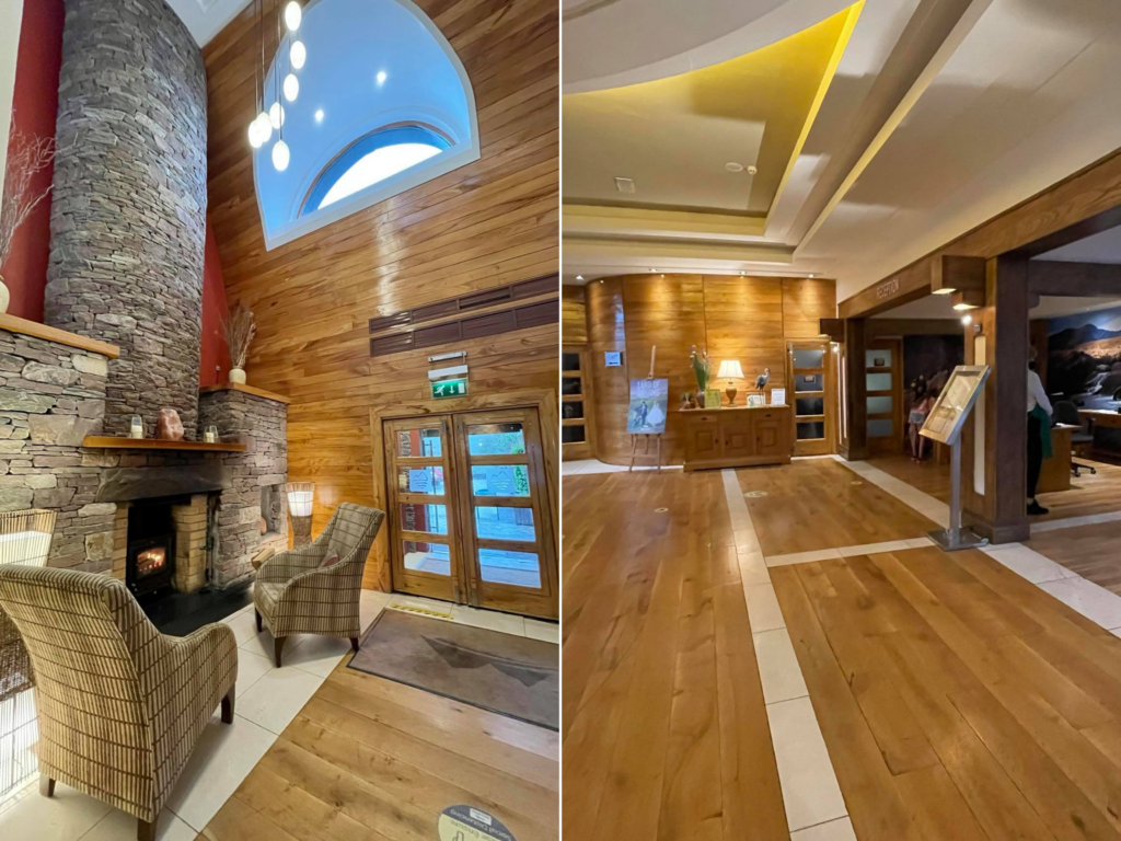 Saucepan Kids review Delphi Adventure Resort Galway - Things to do in Mayo Galway Ireland with teenagers - the lobby